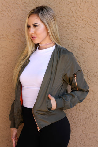 Classic Olive Bomber