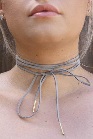 Tied Up Suede Choker