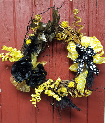 Iowa Hawkeye Wreath