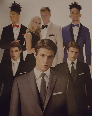 Styles of tuxedos for formal events.