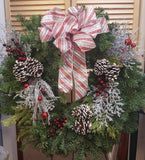 Fresh Pine Wreath with Accents