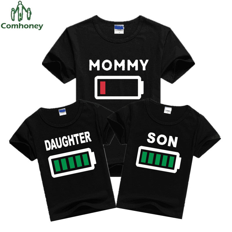 Funny Family Battery Tees