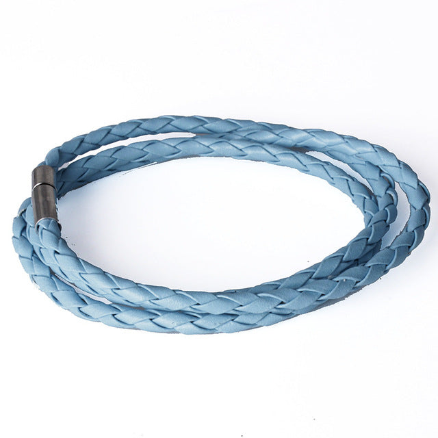 Faux Leather Rope Bracelet