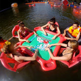 Floating Poker Table and Chairs