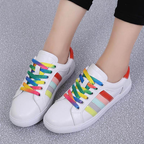 "Sneakers ""Rainbow passion"" sport women's. Genuine leather 2017"