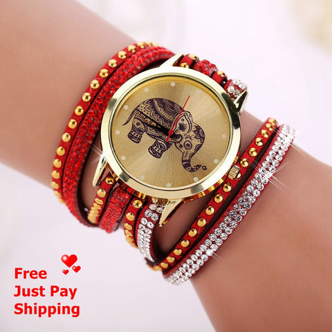 "Bracelet Quartz Watch ""I Love Wildlife"" FREEE + Just Pay Shipping"