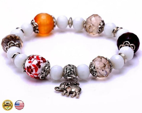 "Bracelet Collection ""four elephants inner balance"" HQ2017."