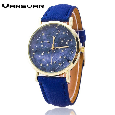 "BA1 Quartz Watch ""Vansvar""12 constellations in genuine leather. Stainless steel Womens. Worldwide Free shipping"