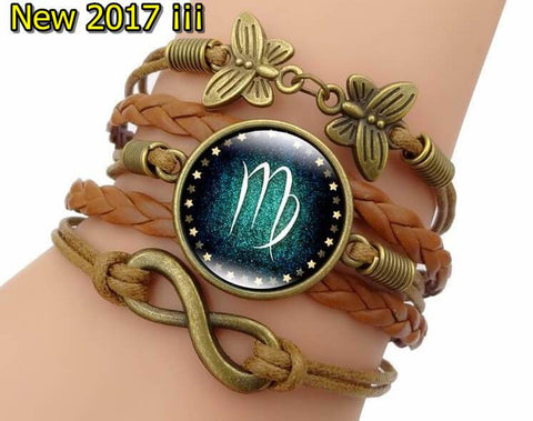 "Bracelet  ""Golden Prosperous"" 12 Constellations. Positive. HQ2017"