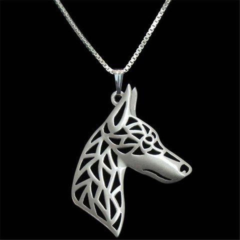 "AD1 Dog Lover Necklase ""My great friend Doberman"" New Fashion. FREE WORLDWIDE SHIPPING."