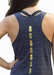 Racerback pineapple tank top - Valleau Apparel