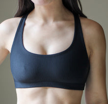 Load image into Gallery viewer, Ribbed 2-in-1 Sports Bra/Bikini - Black