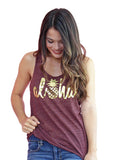 Maroon Aloha pineapple tank top - Valleau Apparel