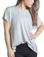 Load image into Gallery viewer, Backless Twist Tee in Grey