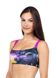 Galaxy sports bra with cage back - Valleau Apparel