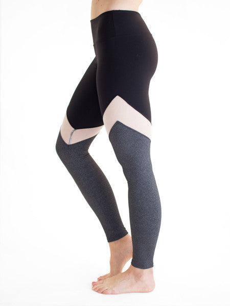 Black workout leggings with mesh - Valleau Apparel