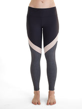Load image into Gallery viewer, Eclipse Legging in Midnight Black, White Mesh & Charcoal,bottoms - Valleau Apparel
