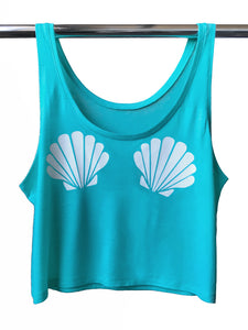 Seashell Tank Top-Teal