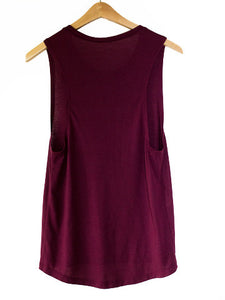 Will You Accept This Rośe? Muscle Tank-Maroon