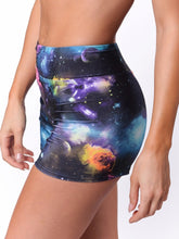 Load image into Gallery viewer, Galaxy workout shorts for yoga - Valleau Apparel