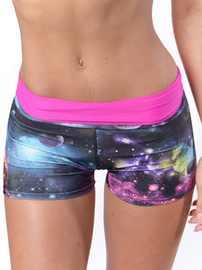 Galaxy workout shorts for cheerleading or dance - Valleau Apparel