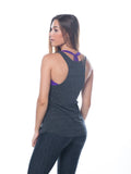 Dark grey workout tank top - Valleau Apparel