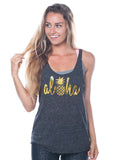 Pineapple workout tank top - Valleau Apparel