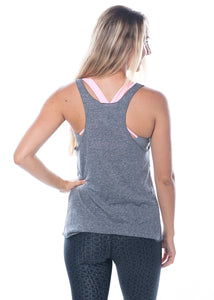 Namastay in Bed Tank-Grey/White,printed top - Valleau Apparel