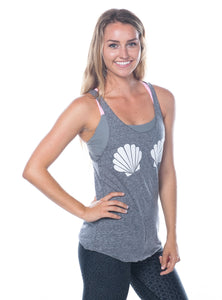 Mermaid seashell workout shirt with racerback  - Valleau Apparel