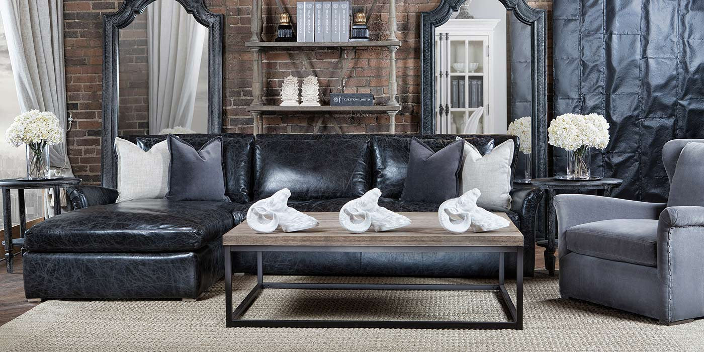 Winslow Leather Living Room Collection - Curations Limited