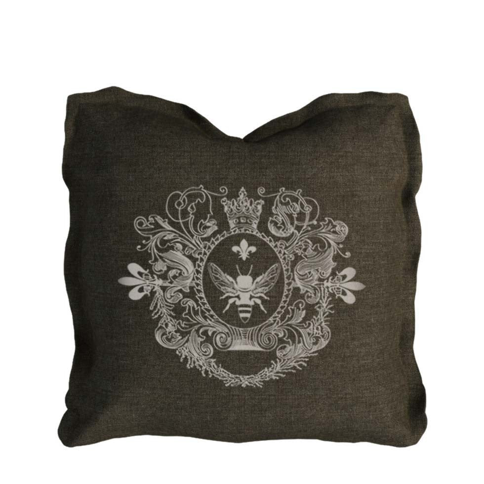 Curations Limited Logo Pillow Brown Linen