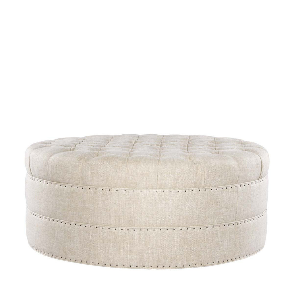 Curations Limited Grand Round Tufted Ottoman