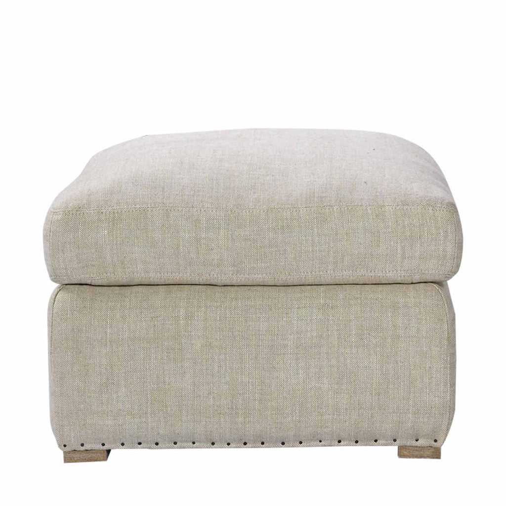 Curations Limited Winslow Ottoman Beige