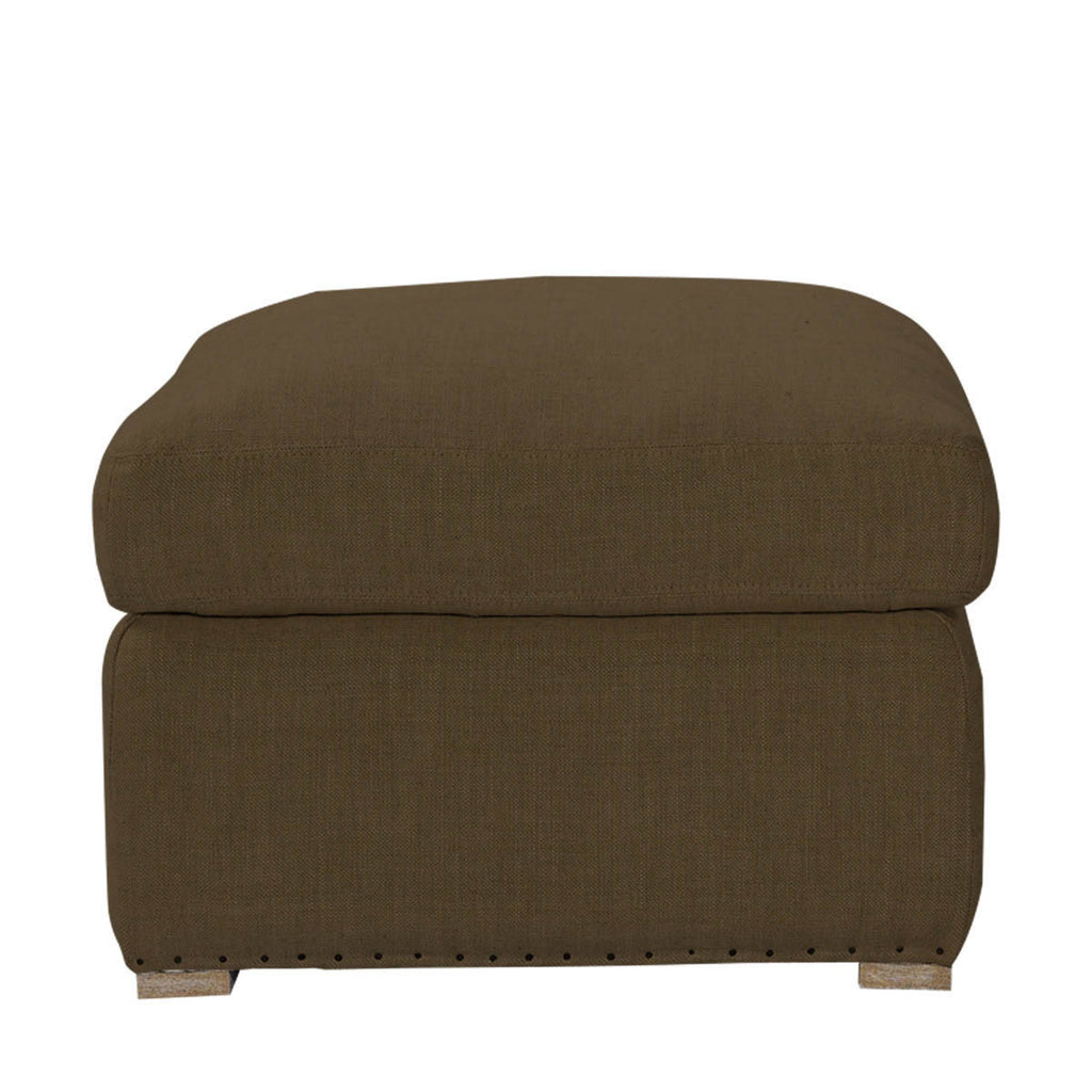 Curations Limited Winslow Ottoman Brown