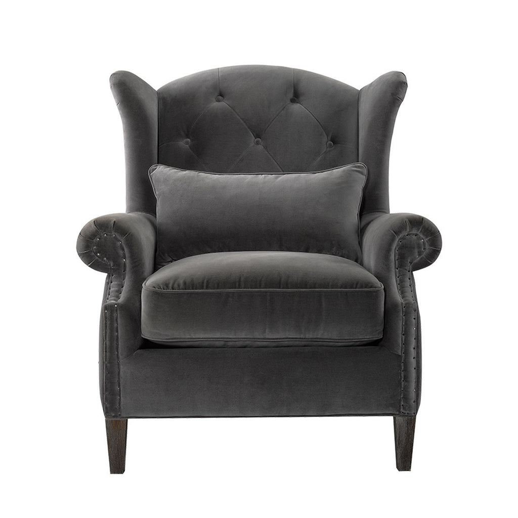 Curations Limited Lauran Velvet Arm Chair