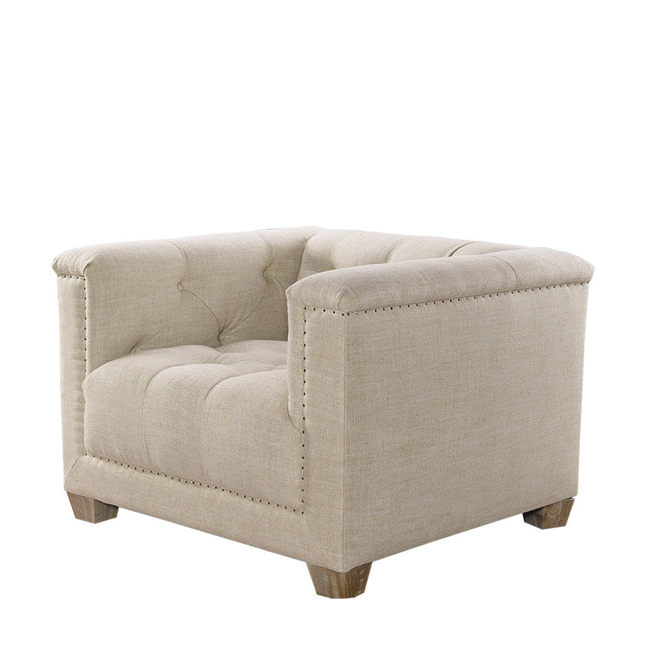 Bergamo  Linen Arm Chair