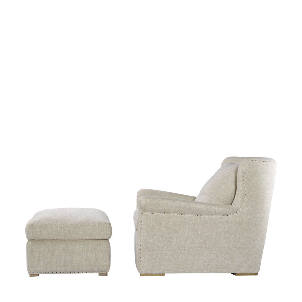 Curations Limited Winslow Lounge Chair Beige Linen