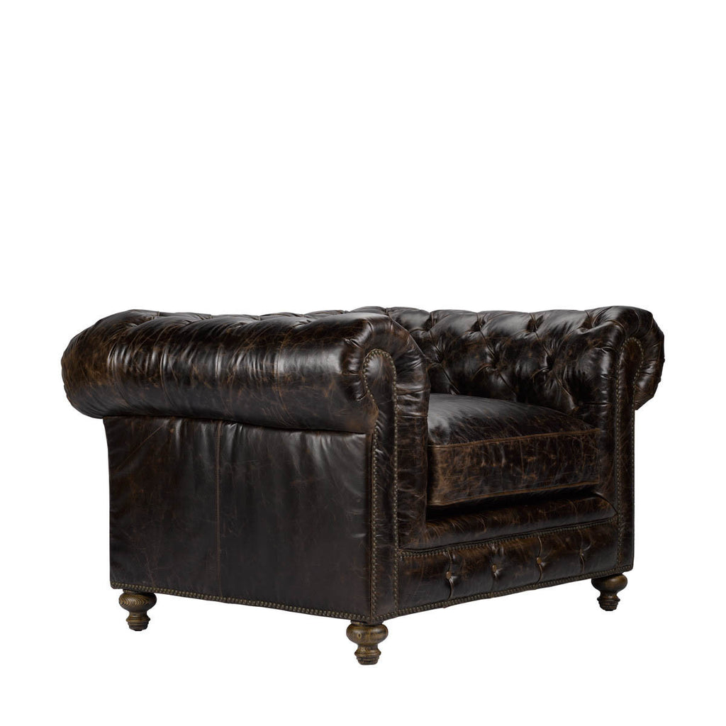 Curations Limited Cigar Club Leather Armchair