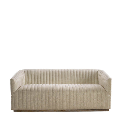 Curations Limited Sete Strip Linen Sofa