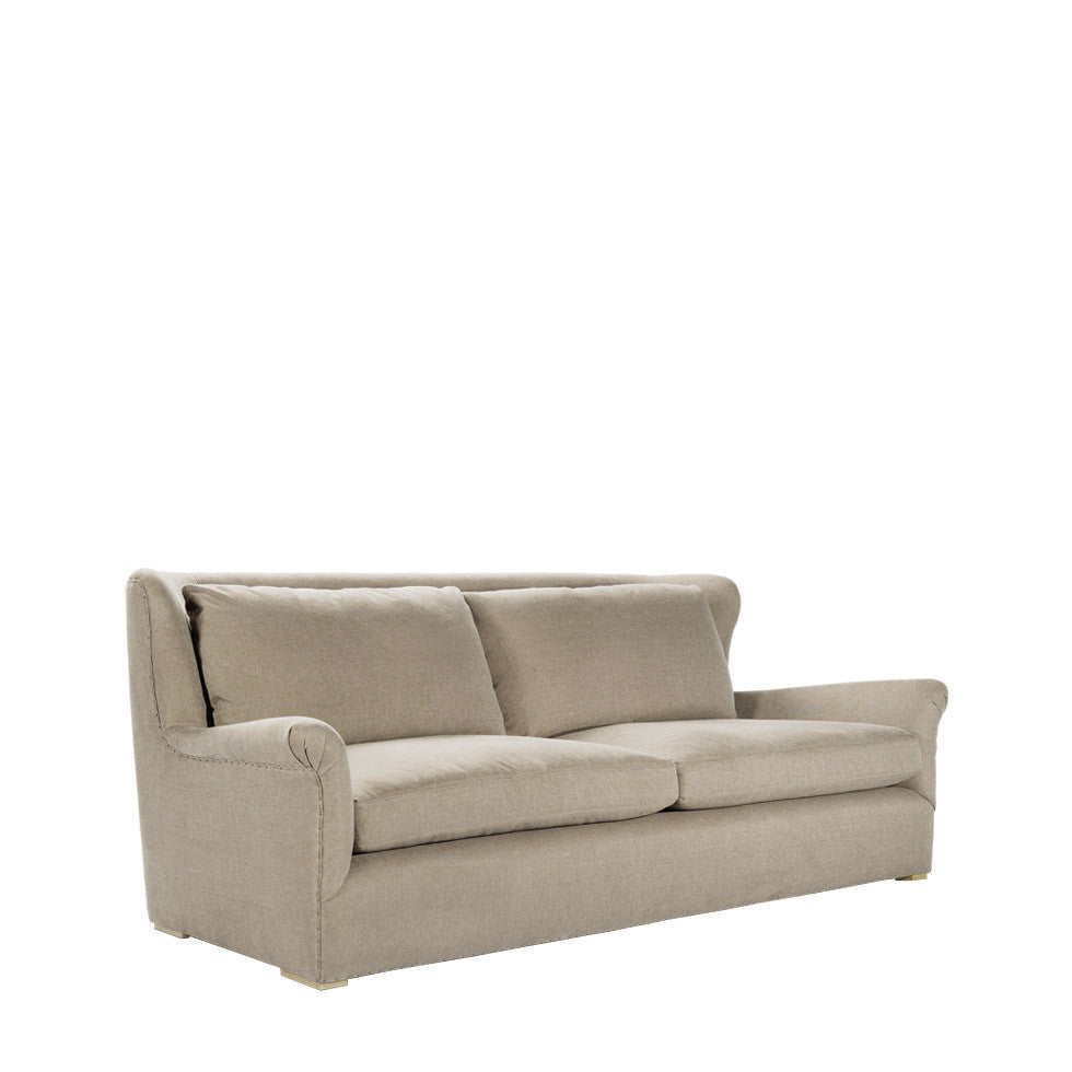 Curations Limited Winslow Sofa Beige Linen