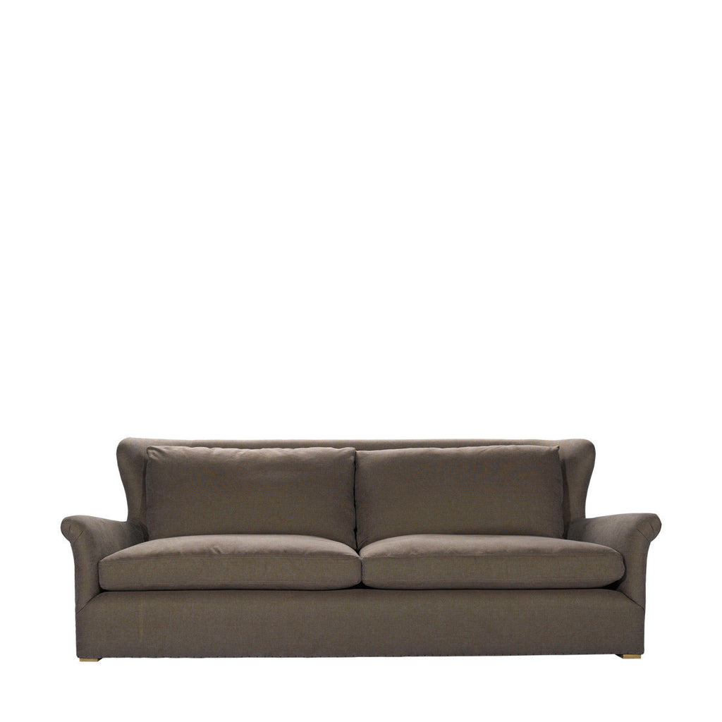 Curations Limited Winslow Sofa Brown Linen