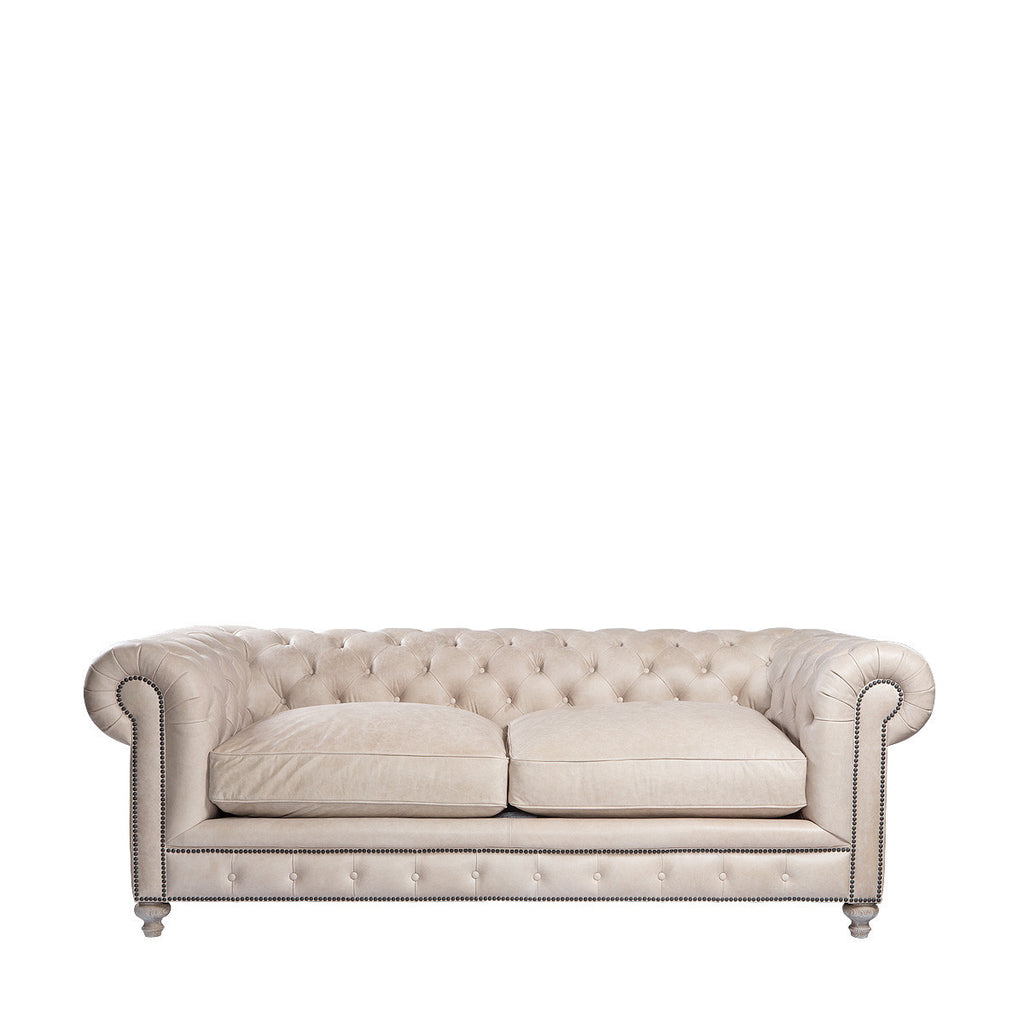"90"" Cigar Club Sofa - Granite Leather"