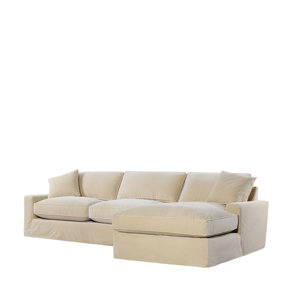 Curations Limited Mons Velvet Upholstered Raf Sectional -Raf Chaise