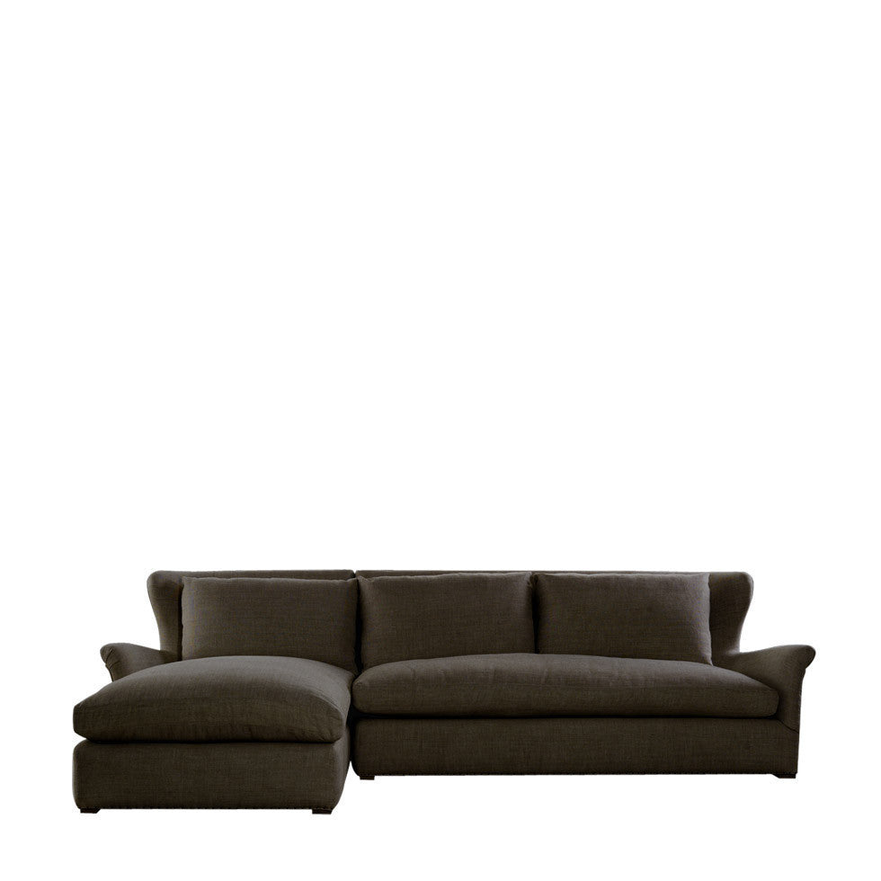 Curations Limited Winslow Sectional Brown Linen