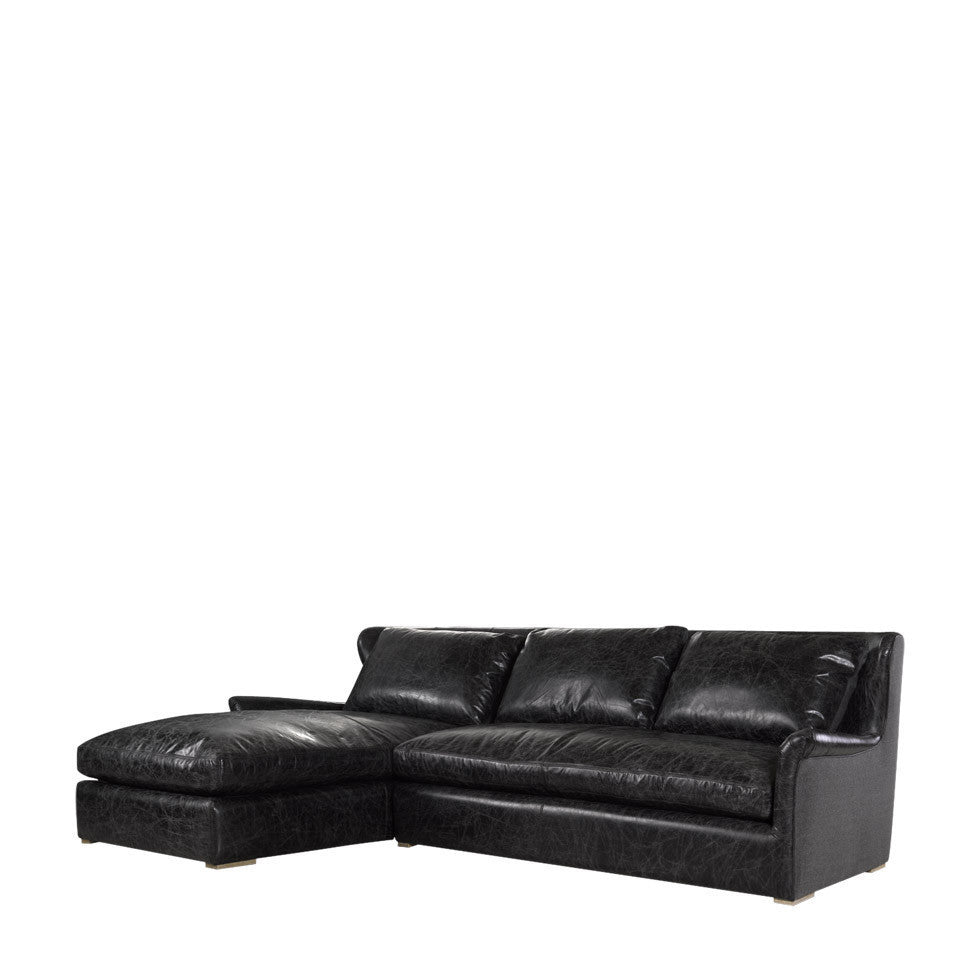 Fine Curations Limited Winslow Leather Wool Sectional Gmtry Best Dining Table And Chair Ideas Images Gmtryco