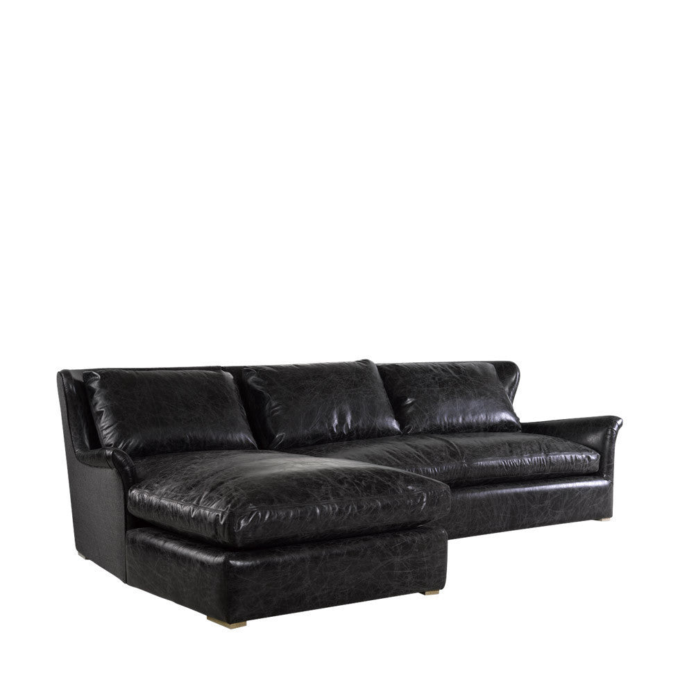 Astounding Curations Limited Winslow Leather Wool Sectional Gmtry Best Dining Table And Chair Ideas Images Gmtryco