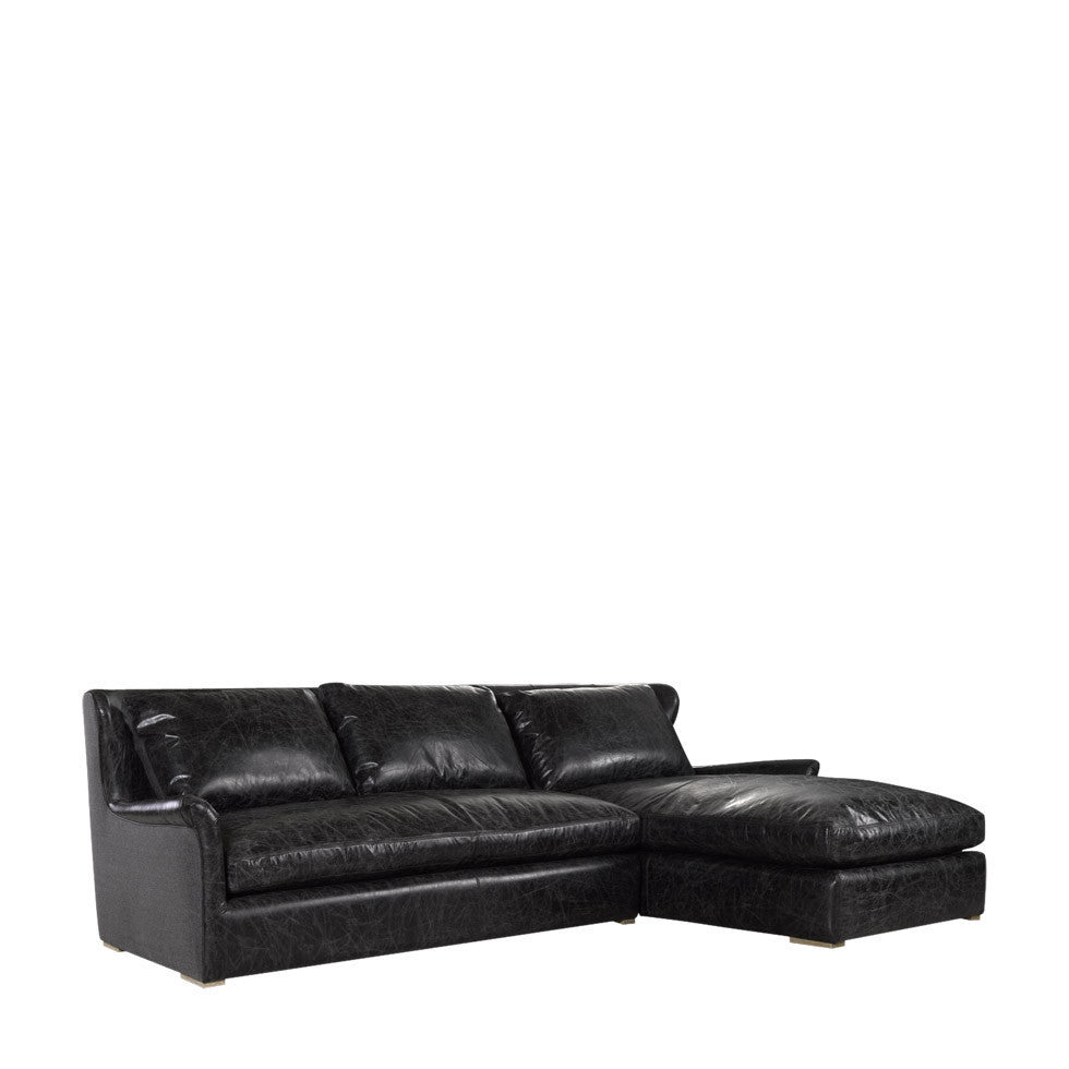 Excellent Curations Limited Winslow Leather Wool Sectional Gmtry Best Dining Table And Chair Ideas Images Gmtryco