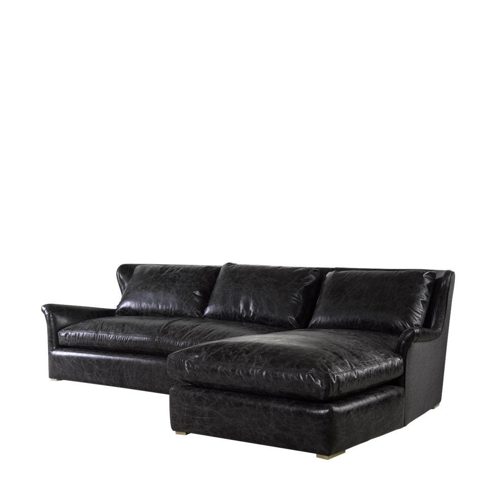 Fabulous Curations Limited Winslow Leather Wool Sectional Gmtry Best Dining Table And Chair Ideas Images Gmtryco