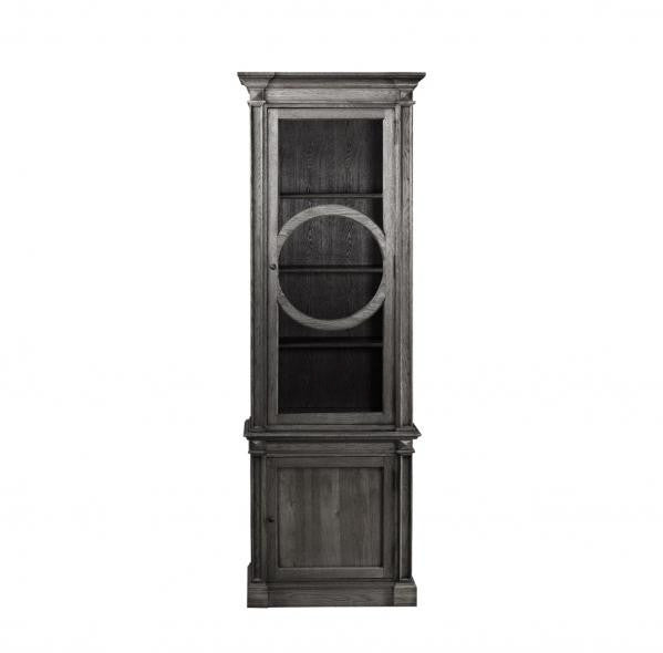 Curations Limited French O-Style Cabinet Grey
