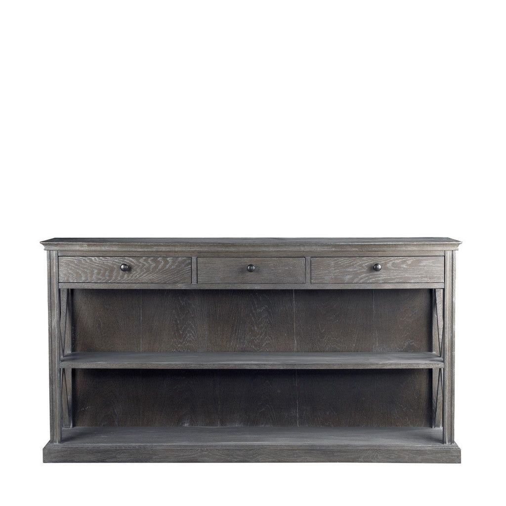 Curations Limited French Casement Console Grey